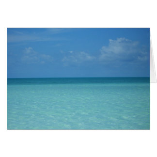 Caribbean Horizon Tropical Turquoise Blue Card