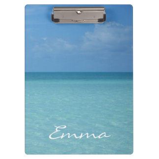 Caribbean Horizon Tropical Turquoise Blue Clipboard