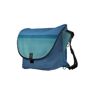 Caribbean Horizon Tropical Turquoise Blue Courier Bags