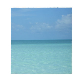 Caribbean Horizon Tropical Turquoise Blue Notepad