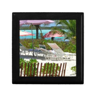Caribbean Island Beach Scene Gift Box