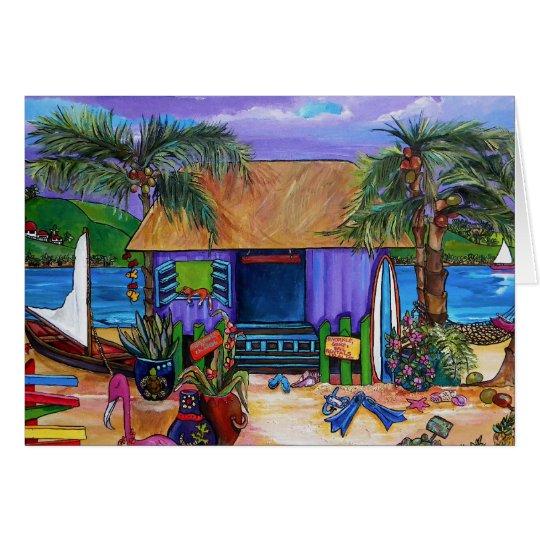 Caribbean island card