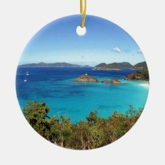 Caribbean Island Scene Christmas Ornament