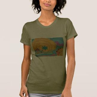 Caribbean Island Sun Tee Shirts