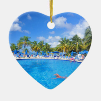 Caribbean islands ceramic heart decoration