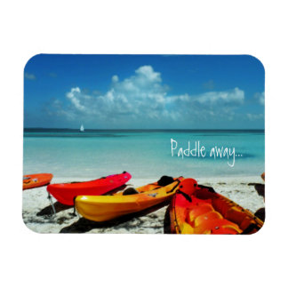 Caribbean Kayak Paddle Away Magnet