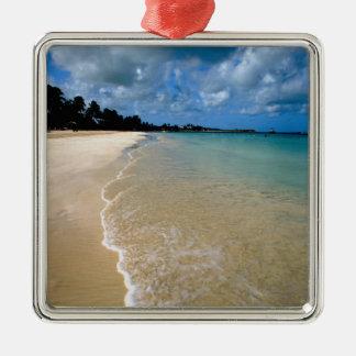 Caribbean, Leeward Islands, Antigua, Dickenson Silver-Colored Square Decoration