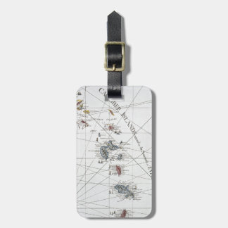 CARIBBEAN: MAP, 1775 LUGGAGE TAG