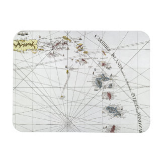CARIBBEAN: MAP, 1775 RECTANGULAR PHOTO MAGNET