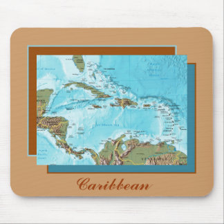Caribbean Map Mousepad