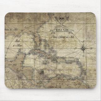 Caribbean - old map mouse mat