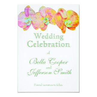 Caribbean Orchids 9 Cm X 13 Cm Invitation Card
