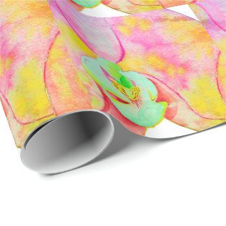 Caribbean Orchids Wrapping Paper