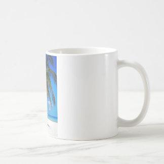 Caribbean palm tree coffee mug