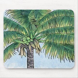 Caribbean palm tree mouse mat