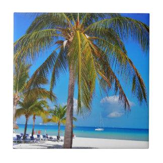 Caribbean palm tree tiles