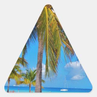 Caribbean palm tree triangle sticker