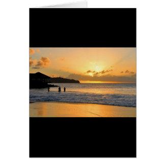 Caribbean paradise card