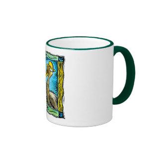 Caribbean Pelican Ringer Coffee Mug
