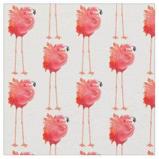 Caribbean Pink Flamingo Bird Fabric