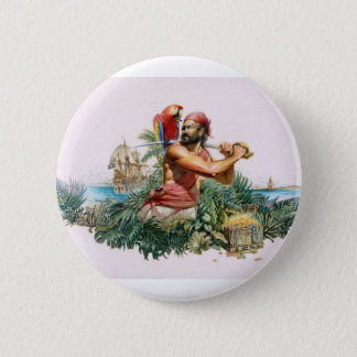 Caribbean Pirate 6 Cm Round Badge