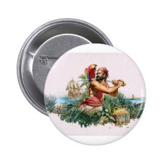 Caribbean Pirate 6 Cm Round Badge