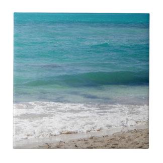 Caribbean Sea Beach Small Square Tile