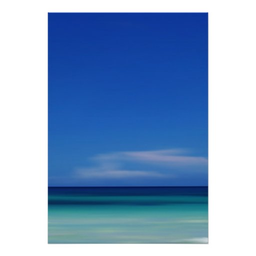 Caribbean Sea Blue Abstract Photo Print