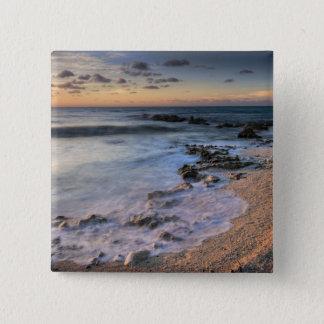 Caribbean Sea, Cayman Islands. Crashing waves 15 Cm Square Badge
