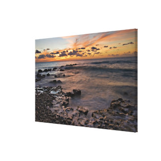 Caribbean Sea, Cayman Islands. Crashing waves 2 Canvas Print