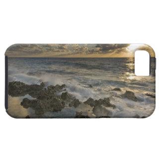 Caribbean Sea, Cayman Islands.  Crashing waves 2 iPhone 5 Cover