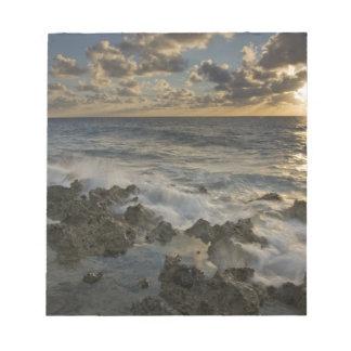 Caribbean Sea, Cayman Islands.  Crashing waves 2 Notepad