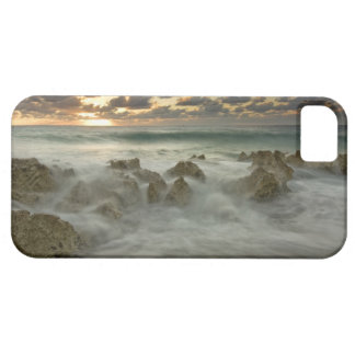 Caribbean Sea, Cayman Islands.  Crashing waves 3 iPhone 5 Covers
