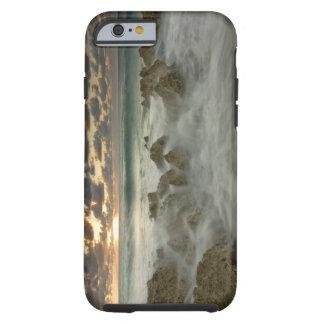Caribbean Sea, Cayman Islands.  Crashing waves 3 Tough iPhone 6 Case
