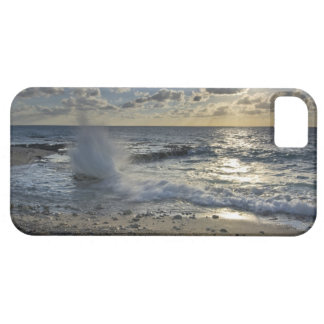 Caribbean Sea, Cayman Islands.  Crashing waves iPhone 5 Cover