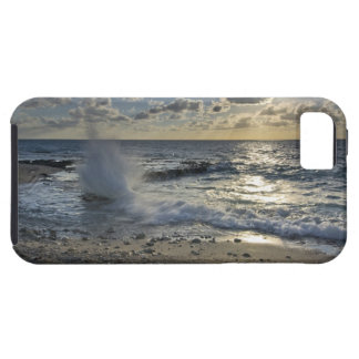 Caribbean Sea, Cayman Islands.  Crashing waves iPhone 5 Case