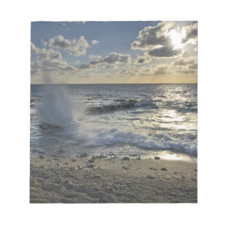 Caribbean Sea, Cayman Islands.  Crashing waves Notepad