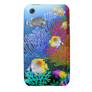 Caribbean Sea Coral Reef Fish iPhone 3 Case