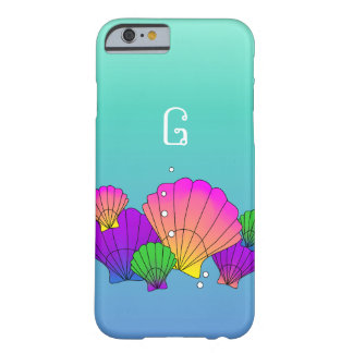 Caribbean Sea Shells with Bubbles Barely There iPhone 6 Case