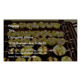 Caribbean Shrimp Marinaded In Orange Juice And Chi Business Card