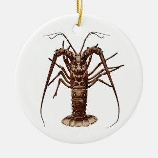 Caribbean Spiny Lobster Christmas Ornament
