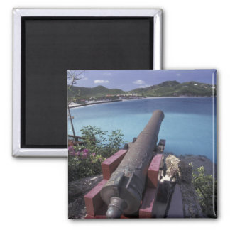 CARIBBEAN, St. Barts, Connon aiming into Bay of Square Magnet