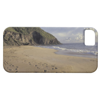 Caribbean, St. Kitts. Footprints on Atlantic iPhone 5 Case