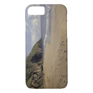 Caribbean, St. Kitts. Footprints on Atlantic iPhone 8/7 Case