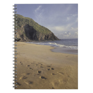 Caribbean, St. Kitts. Footprints on Atlantic Notebooks