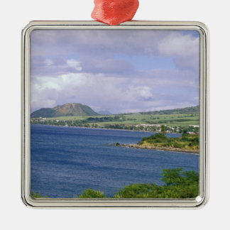 Caribbean, St. Kitts, Roseau. Coast. Christmas Ornament