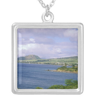 Caribbean, St. Kitts, Roseau. Coast. Silver Plated Necklace