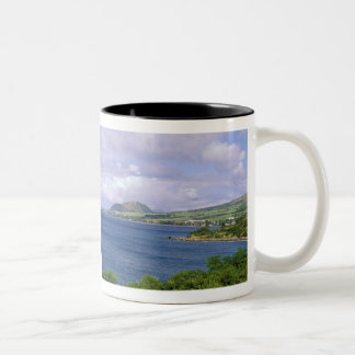 Caribbean, St. Kitts, Roseau. Coast. Two-Tone Coffee Mug