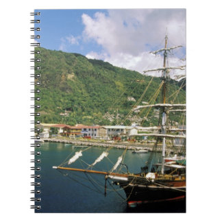 Caribbean, St. Lucia, Soufriere. Boats in Notebook