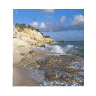 Caribbean, St. Martin, Cliffs at Cupecoy beach Notepad